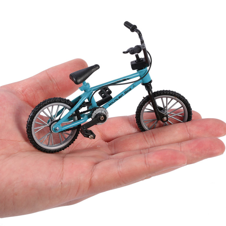 Mini Size Simulation Alloy Finger Bike Children Kid Funnt Mini Finger Bike Toy green
