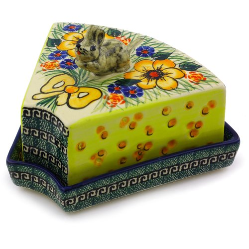Polmedia Flower Mouse Butter Dish
