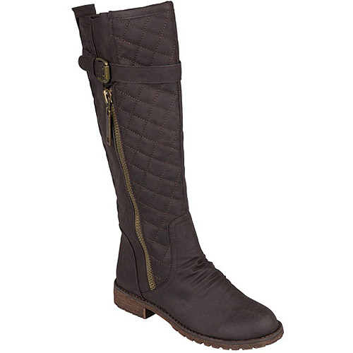 Brinley Co. Women's Tall Buckle Detail Boots