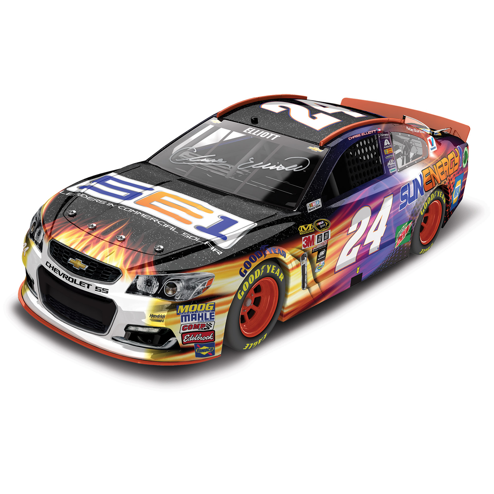 Action Racing Chase Elliott 2016 #24 SunEnergy1 1:24 Nascar Sprint Cup Series Autographed... by Lionel LLC