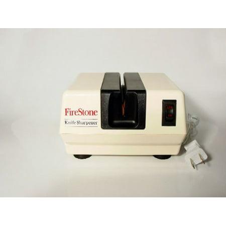 Mcgowan Firestone Electric Sharpener, White/Black Multi-Colored