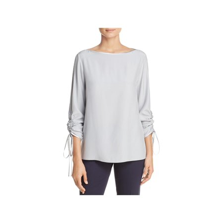 (Lafayette 148 New York Womens Georgina Silk Business Wear Blouse)