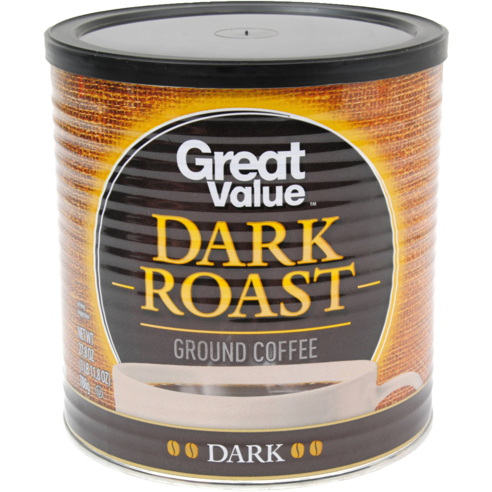Great Value Dark Roast Ground Coffee, 27.8 oz
