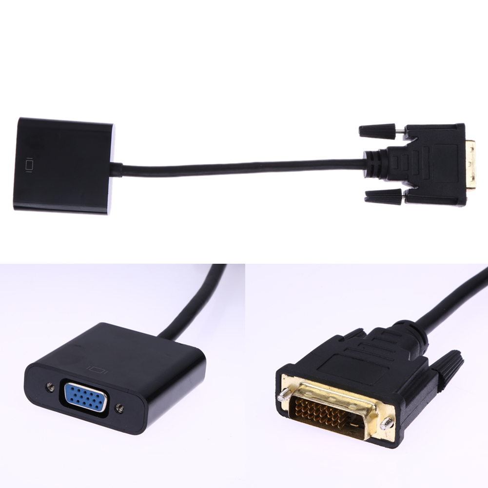 1080P DVI-D 24+1 to VGA HDTV Monitor Cable Adapter Converter for PC Display Card