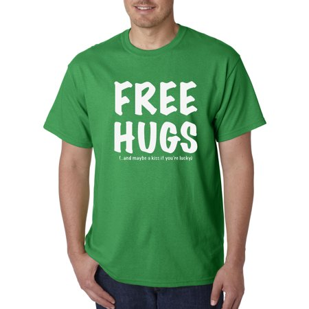 Allwitty 1042 - Unisex T-Shirt Free Hugs And Maybe A Kiss If You're - You're So Lucky Halloween
