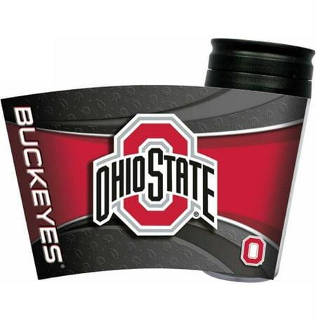 Ohio State Buckeyes Striped Acrylic - Ohio State Buckeyes Acrylic Tumbler w/ Lid