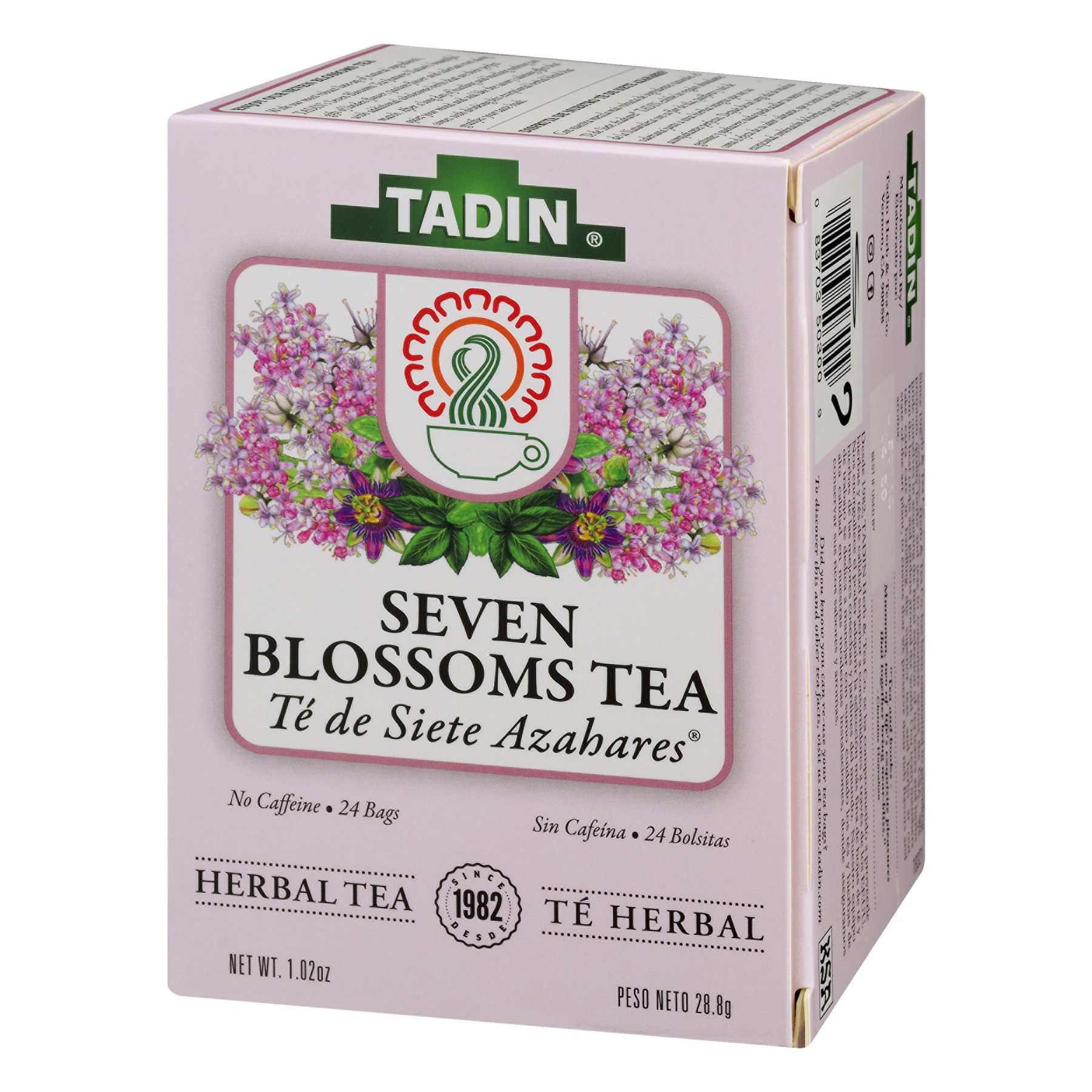 Tadin Herb Tea Co Seven Blossoms Herbal Tea Caffeine Free 24