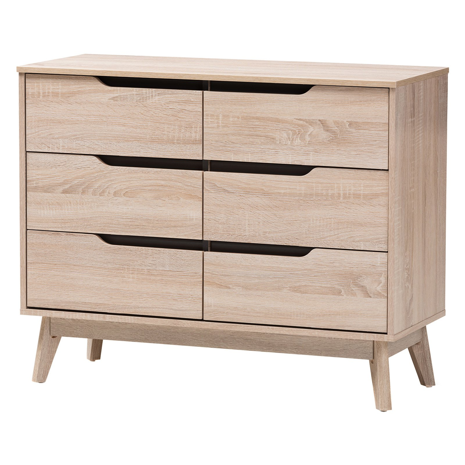 Baxton Studio Fella 6-Drawer Dresser