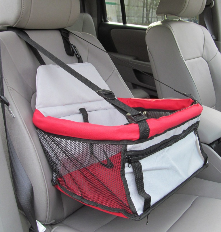 Pawhut Deluxe Dog Booster Seat for Cars - Red