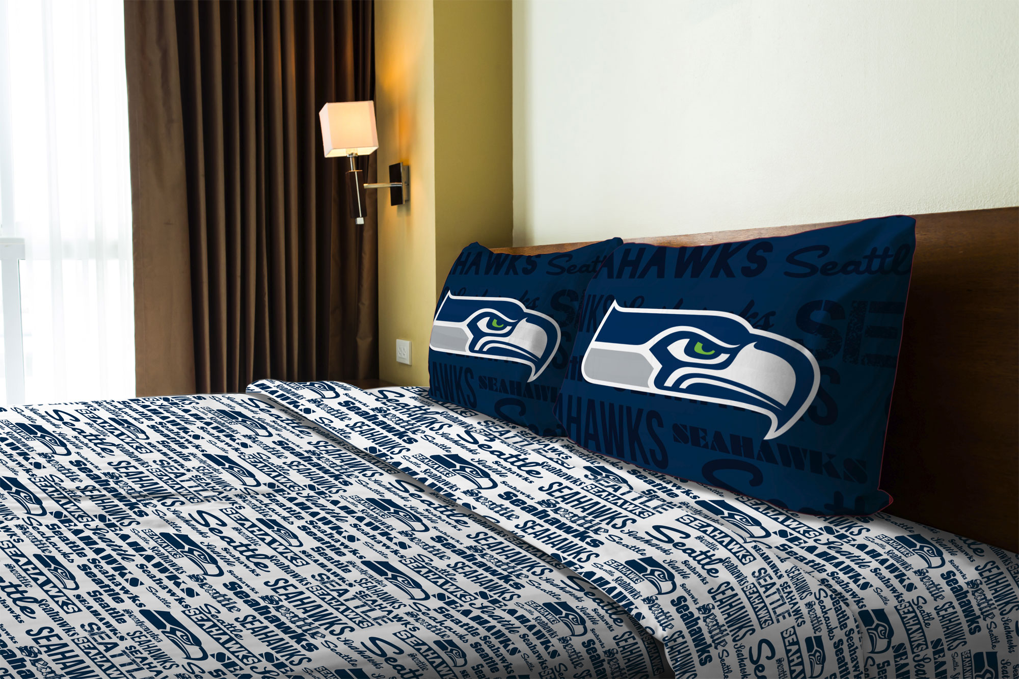 nfl seattle seahawks sheet set - walmart