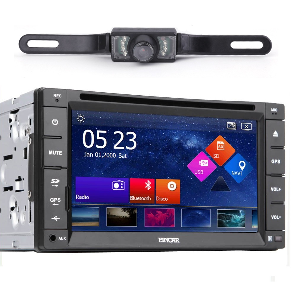 6.2 Inch Double Din Car Stereo DVD GPS with Backup Camera HD Touch Screen Bluetooth Radio Navigation Machine... by OUTAD