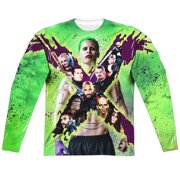 Suicide Squad Taskforce X (Front Back Print) Mens Long Sleeve Sublimation Shirt