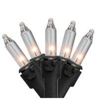 Brite Star 50ct Mini String Lights Crystal Clear - 12' Black Wire
