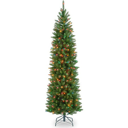 sneakers for cheap 4028e 3a802 National Tree Pre-Lit 7.5' Kingswood Fir Pencil, Multi-Colored Lights