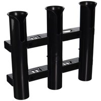 Tournament 3 Rack Rod Holder, Black-Replacement Parts and Accessories for Tournament Fishing, Rod Fishing, Deep Sea Fishing and Trolling, Rod Holder Tube is 11in long x.., By CE Smith