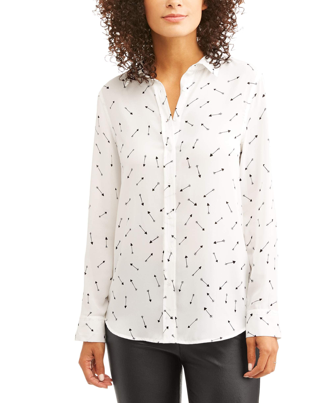 Como Black Womens Blouses Shirts Walmart Com