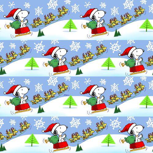 Peanuts Christmas Roll Wrap