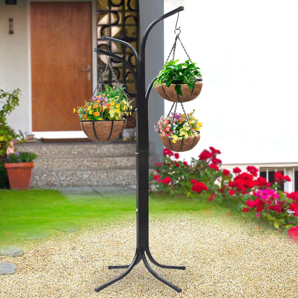 Tree Plant Stand Hanging Holder Baskets