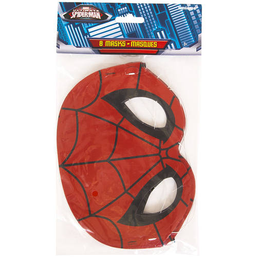 Spiderman Party Masks, 8-Count