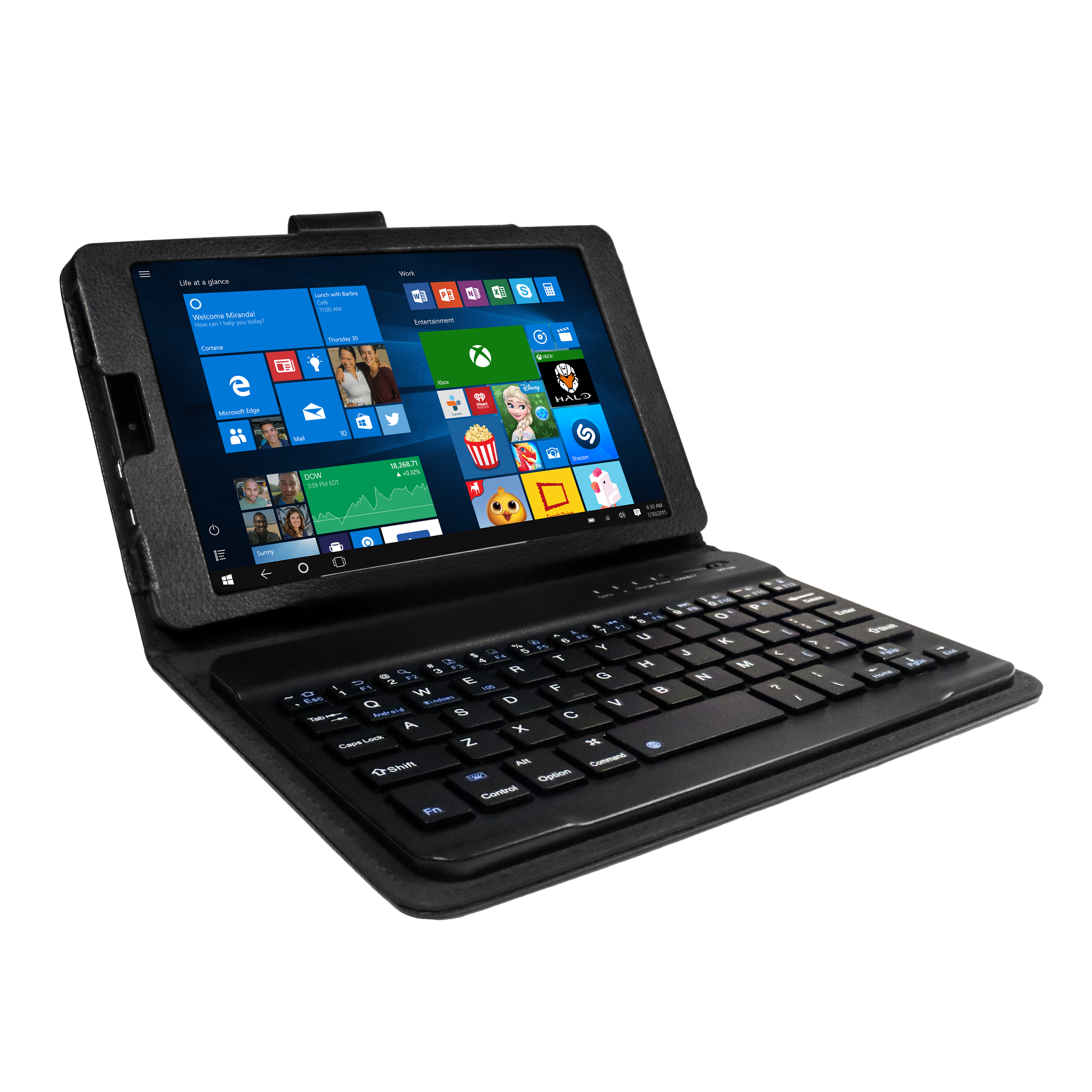 """Ematic 32GB 8"""" Quad-Core Windows 10 Tablet with WiFi, EWT828"""