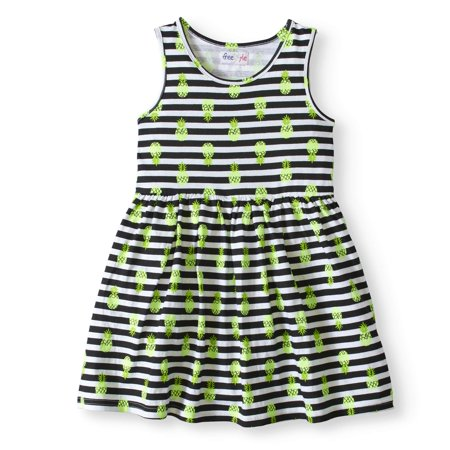 20adfc0758f40 Freestyle Revolution - Girls' Jersey Fit And Flare Dress - Walmart.com