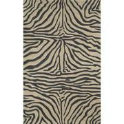 Liora Manne Ravella Black Zebra Outdoor Rug