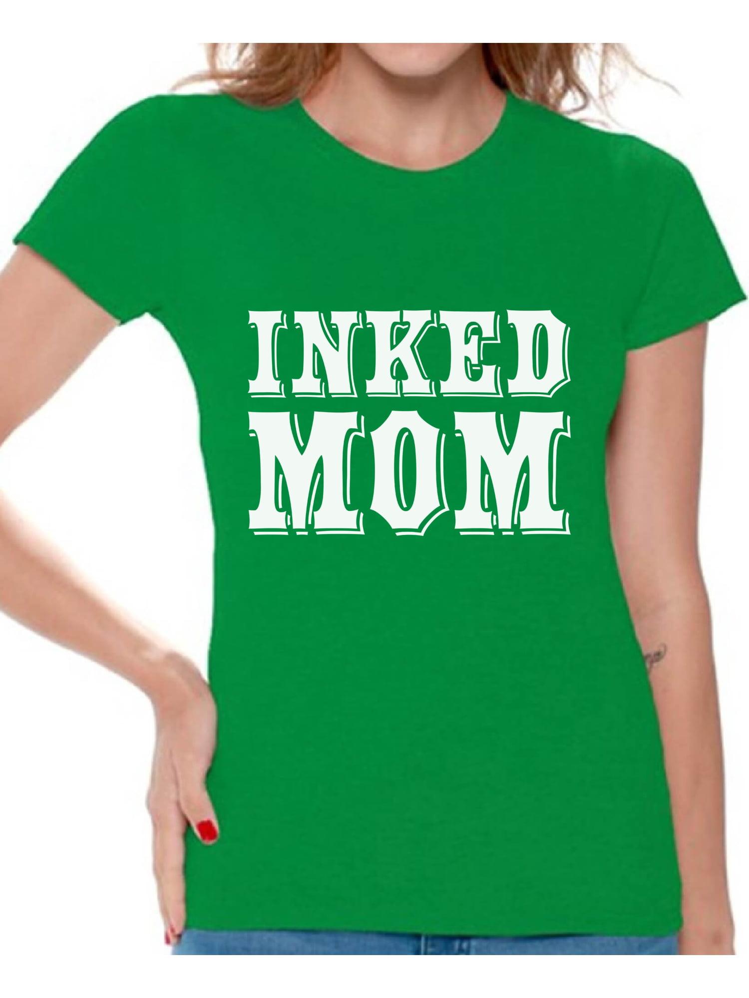 c585f75e Awkward Styles Inked Mom Tshirt for Women Tattooed Mom Shirt Tatted Mom T  Shirt Best Gifts for Mom Cool Tattoo Mom Shirt Tattoo Shirts with Sayings  for ...