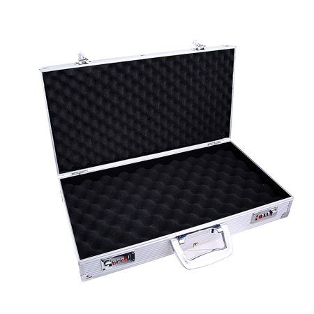 Aluminum Hard Case - Aluminum Framed Locking Gun Case Pistol HandGun Lock Box Hard Storage