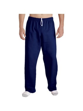 Gildan Men's Open Bottom Pocketed Jersey Pant with Drawstring