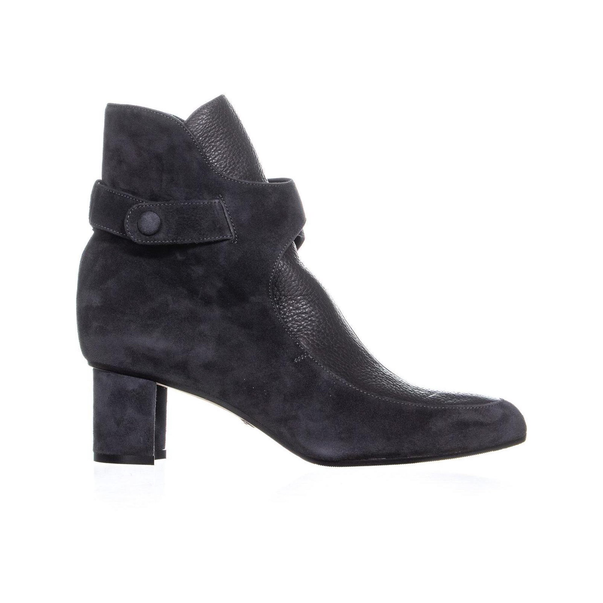 b50566d6916 Sarah Flint Maria Front Flap High Ankle Boots, Slate Suede | Walmart ...