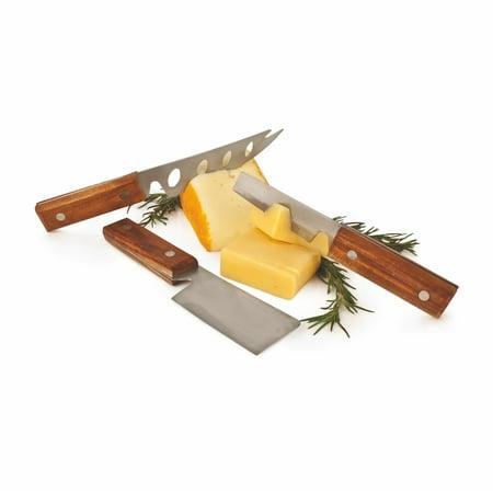 Cheese Spreaders, Wood Handle Spreader Chisel Knife Set Stainless Steel Tool