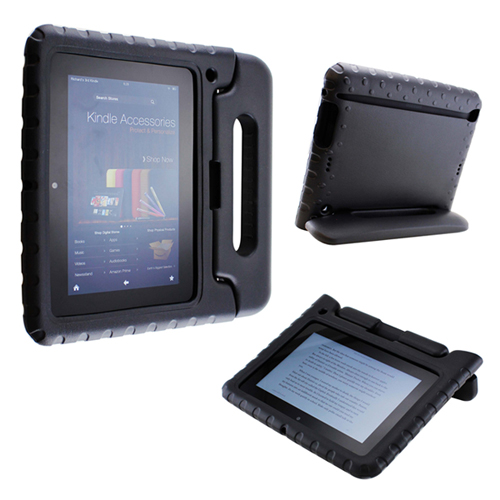 Children Safe Kids Friendly Protective Foam Case Cover Handle Stand for Amazon Kindle Fire HD 7 - Black