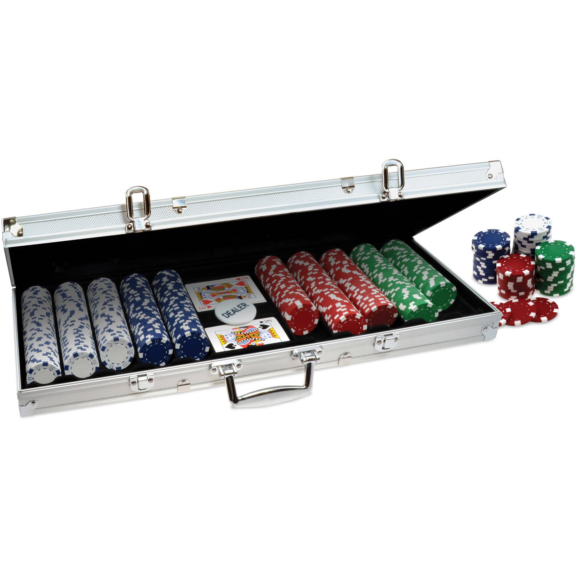 ProPoker 500 11.5g Poker Chips In Aluminum Case
