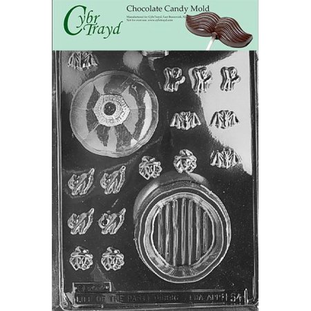 Citrouilles Pour Halloween (Cybrtrayd Life of the Party H054 Halloween Thanksgiving Large Pour Box Pumpkin Chocolate Candy Mold in Sealed Protective Poly Bag Imprinted with Copyrighted Cybrtrayd Molding)