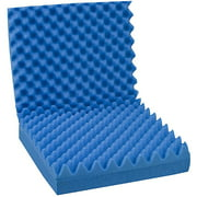 "DMI Convoluted Foam Chair Pad with Back, Blue, 18"" x 32"" x 3"""