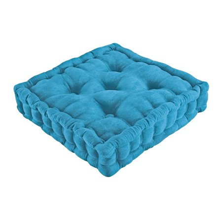 Tufted Support Padded Boosted Cushion, Blue, 3 Inch tufted seat cushion provides extra height, support and comfort By Collections Etc