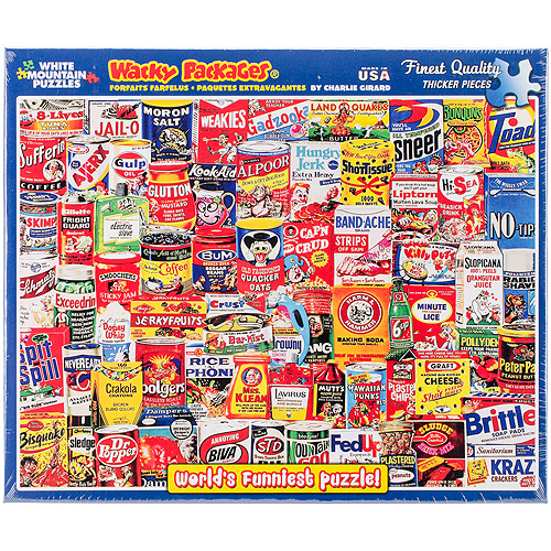 """Jigsaw Puzzle, 1000 Pieces, 24"""" x 30"""", Wacky Packages"""