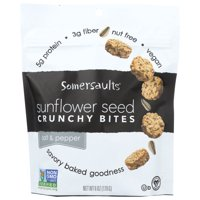Somersaults Sunflower Seed, Salt & Pepper, Crunchy Bites, 6 Oz, Pack Of 6