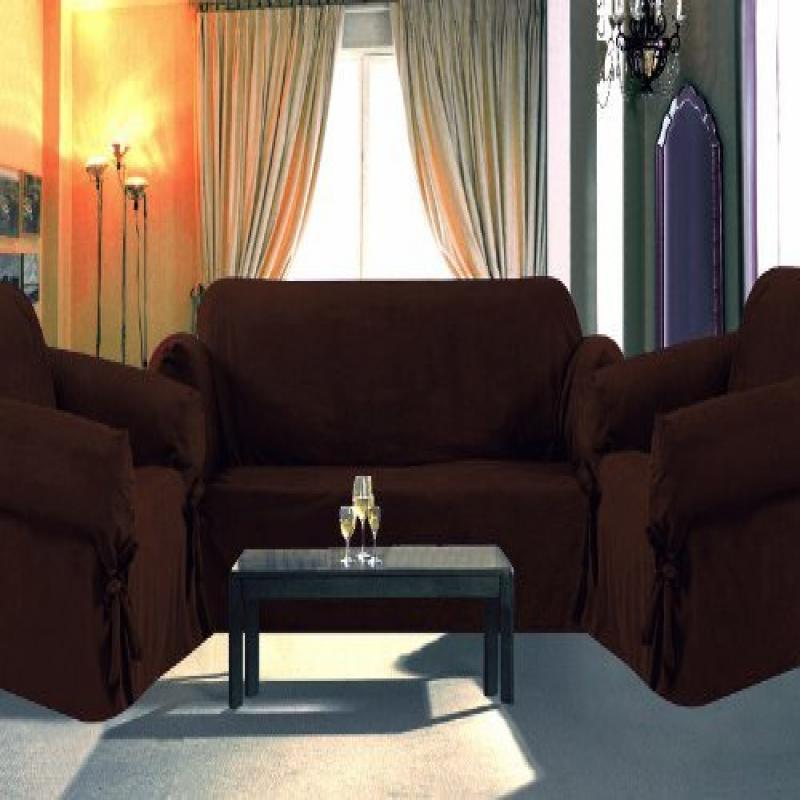 Sofa / Couch Cover Slipcover 3 Pc. Set = Sofa + Loveseat ...