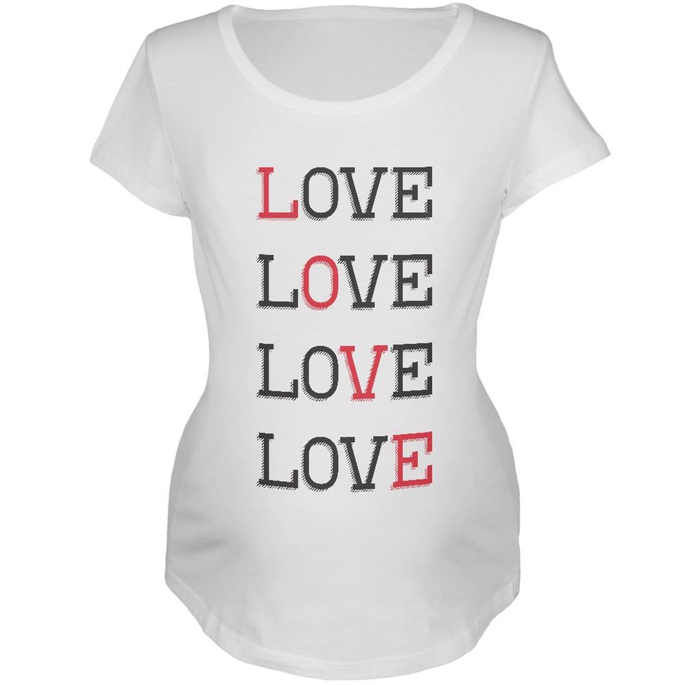 Valentines Day - All About Love White Soft Maternity T-Shirt