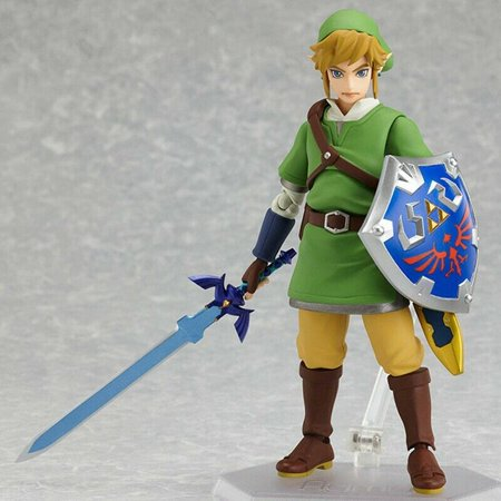 Fancyleo The Legend of Zelda: Skyward Sword Link Figma Action Figure Toy In Box Decors US ()