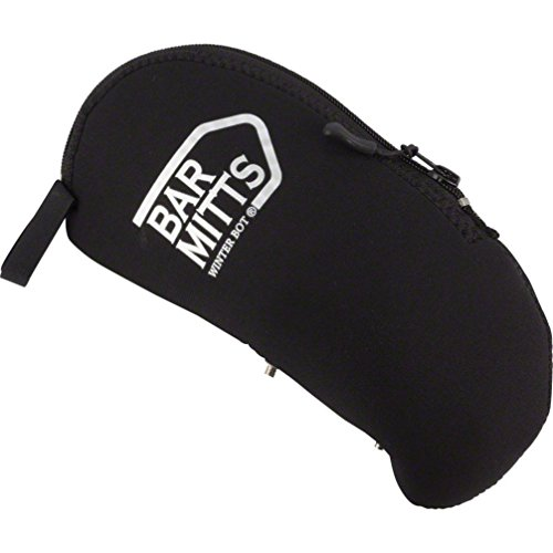 Bar Mitts Winter Bot Neoprene Bicycle Water Bottle Cover Enclosure with Water Bottle Cage & Accessories, Black by barmitts