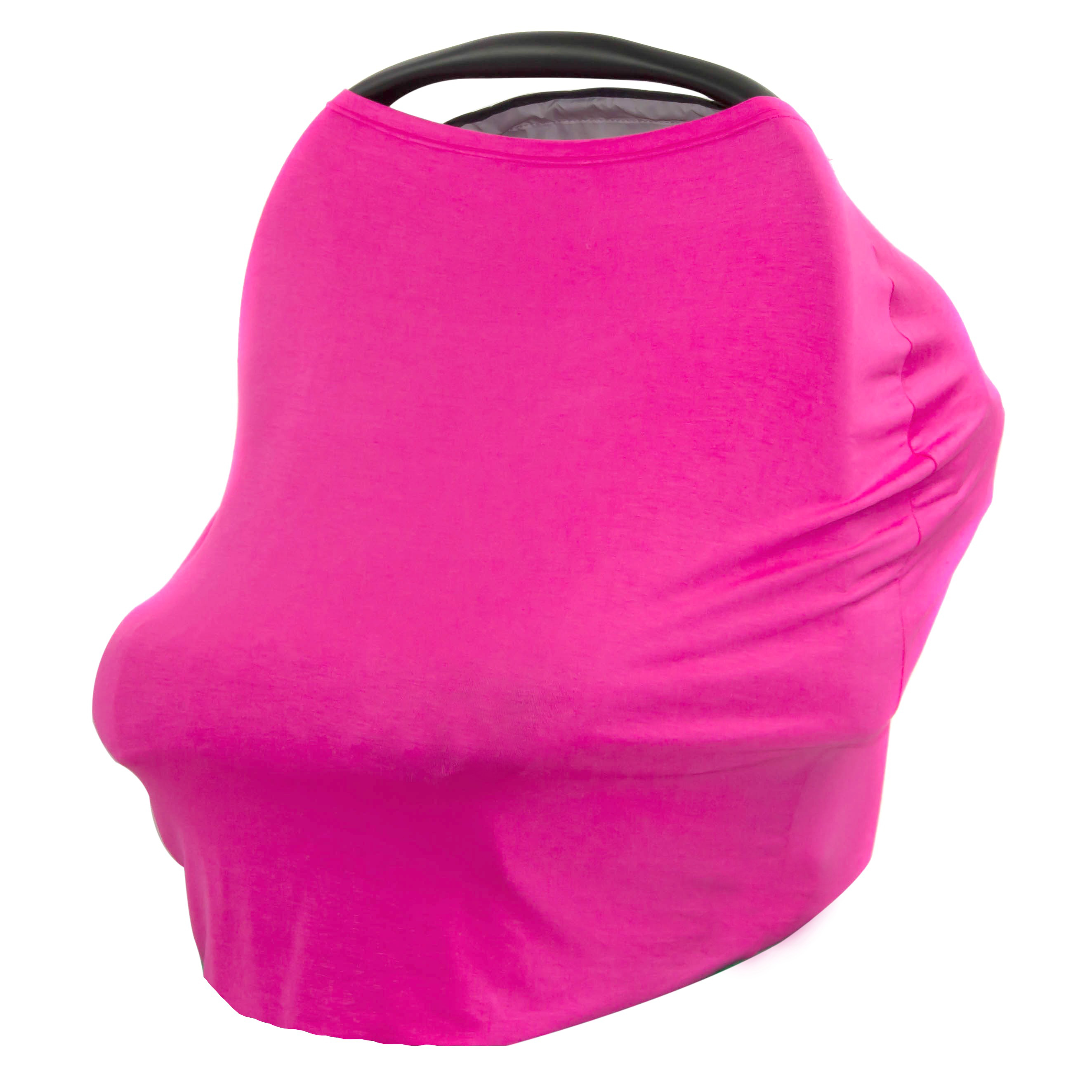 JLIKA Baby Car Seat Canopy Cover and Stretchy Nursing Cover - Azalea