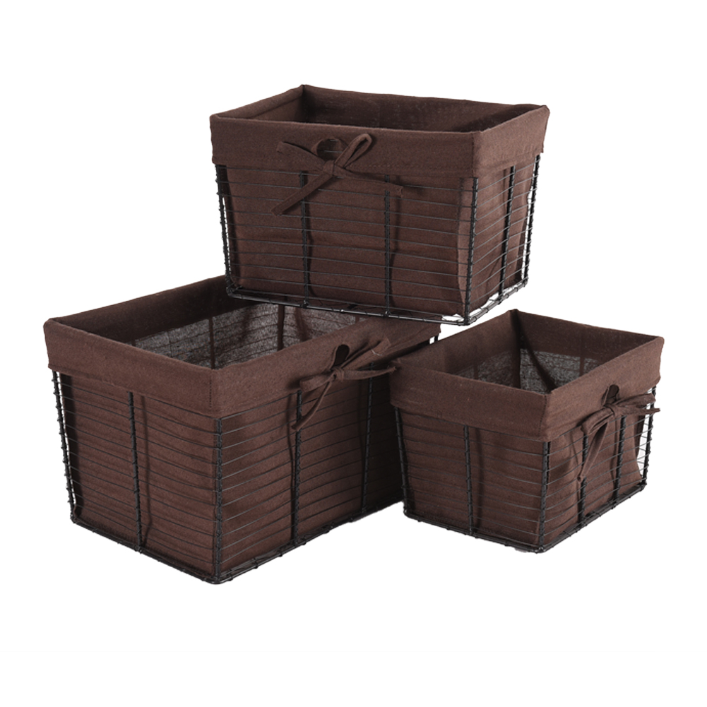 Wire Basket Set Rustic Farmhouse Open Home Storage Bins Laundry Room Bathroom Kitchen Walmart Com Walmart Com