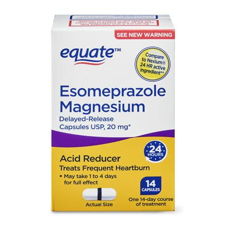 Equate Esomeprazole Magnesium Delayed-Release Capsules, 14 Count Allergy Research Group Magnesium