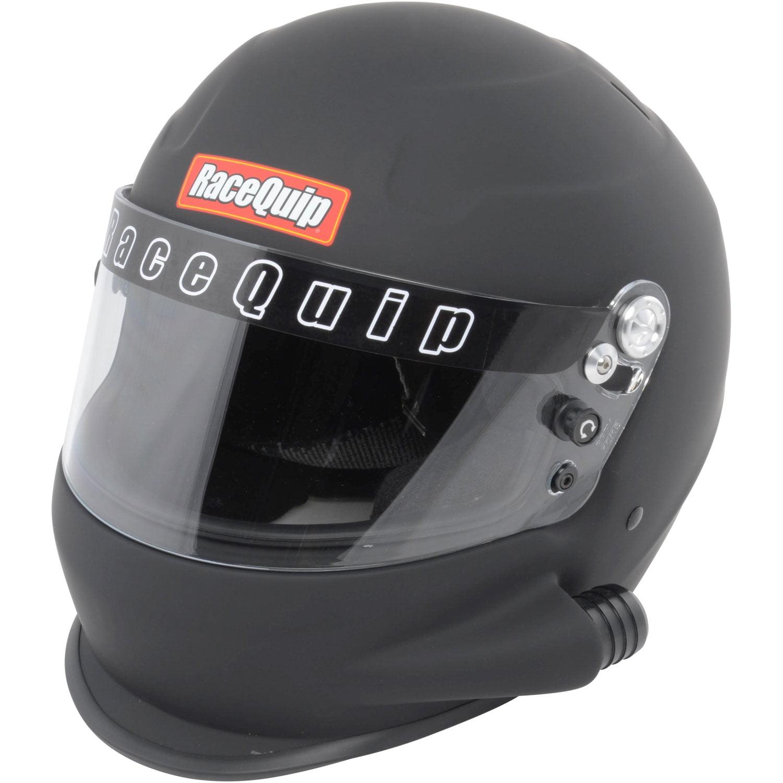 RaceQuip 293996 Helmet PRO15 Full Face; Fiber Reinforced Polymer Shell/ Polystyrene Liner; Snell SA-2015 Rated; Extra Large; Flat Black; Side Air Design - image 1 de 1