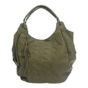 Women's Abstract Deboss Stud Hobo Bag One Size Taupe