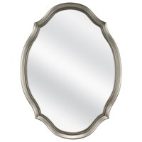 Mainstays 19x26 Pewter Shaped Oval Wall Mirror