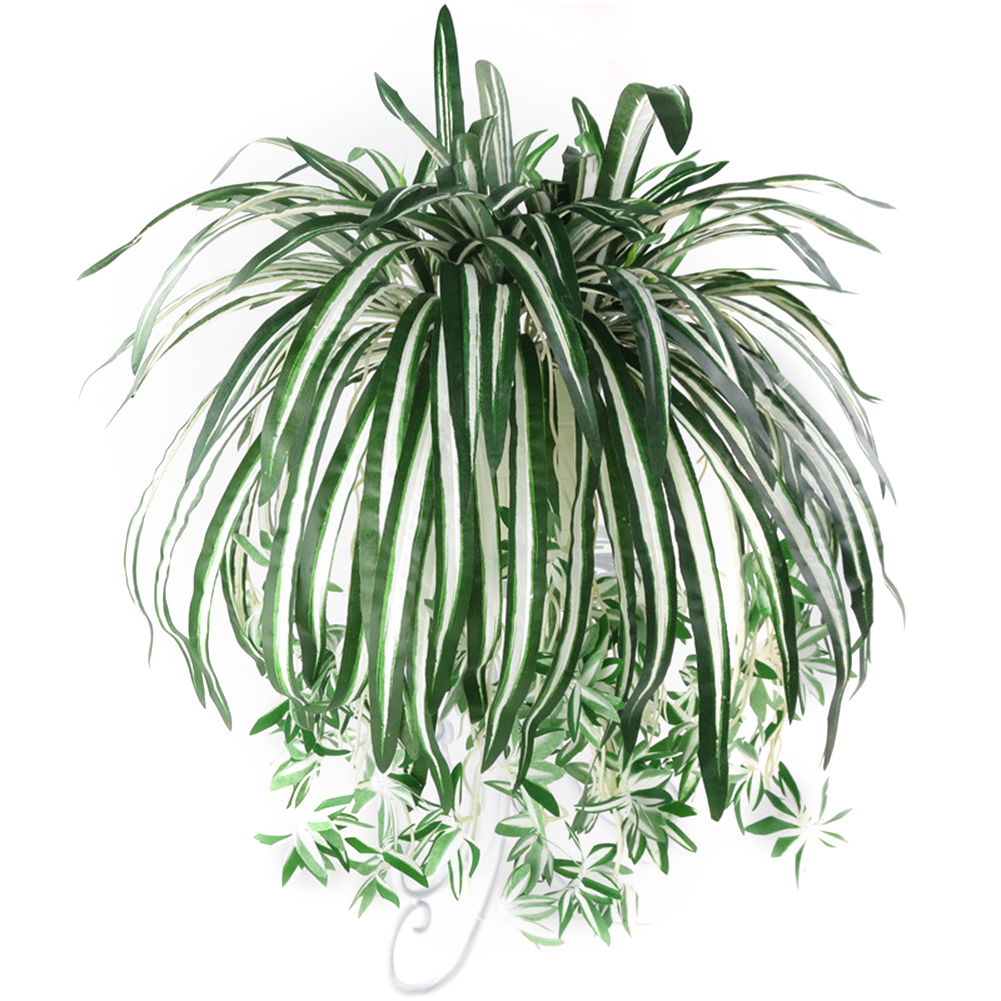 Girl12Queen 1Pc Chlorophytum Comosum Faux Greenery Home Hotel Decor Artificial Spider Plant