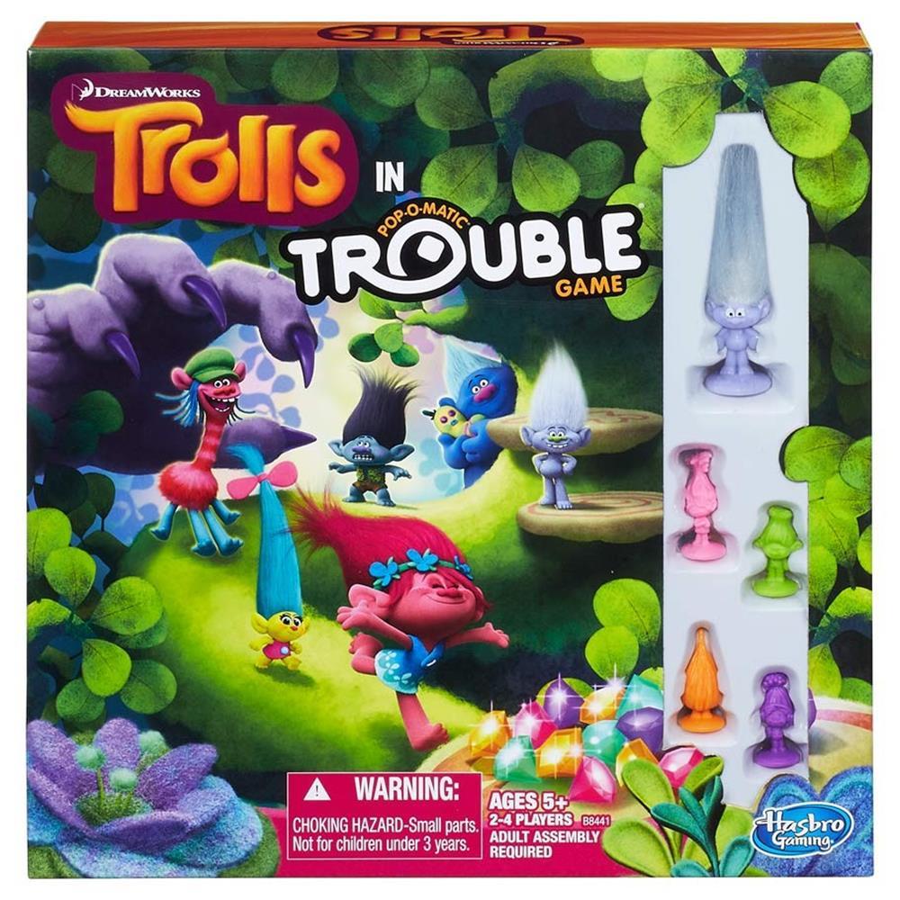 Trolls in Trouble Updated Classic Family Fun Board Game Hasbro HSBB8441 by Hasbro